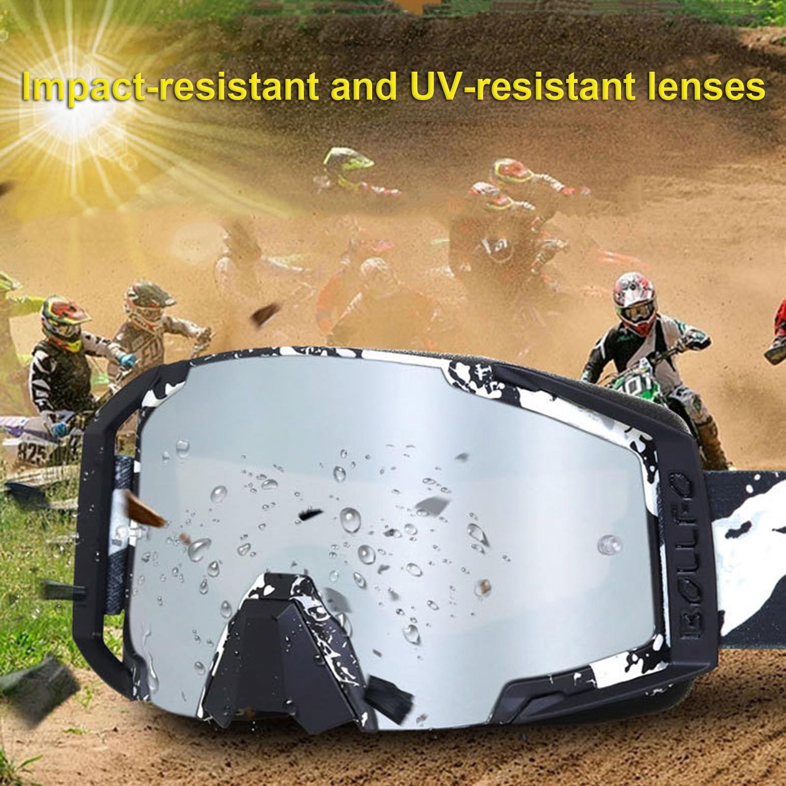 Серебряные лыжные очки для верховой езды ATV ветрозащитные УФ-стойкие очки для сноуборда регулируемые гибкие снегоход MTB очки для сноуборда очки