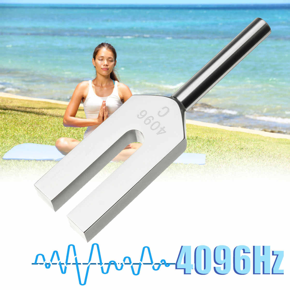 ZEAST 4096 50-60hz アルミミュージカル音叉楽器治癒サウンド振動治療医療ツール