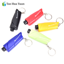 Ornaments Decoration Knife Seat-Belt-Cutter Key-Chain Car-Hanging-Accessories Safety-Hammer