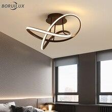 Luces de arañas LED modernas para sala de estar, dormitorio, pasillo, lámparas de iluminación, dispositivo de aluminio, color blanco y negro