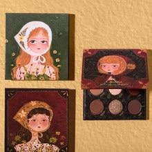 9 cores matte shimmer sombra de olho maquiagem rosa cereja bloss paleta pigmento à prova dwaterproof água bálsamo profesional compõem sombra pallete