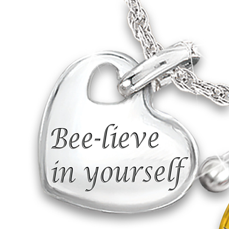 Fashion-Cute-Elephant-Owl-Bee-Ladybug-Necklace-Initial-Heart-Necklace-Symbolizes-Love-and-Luck-Letter-Necklace