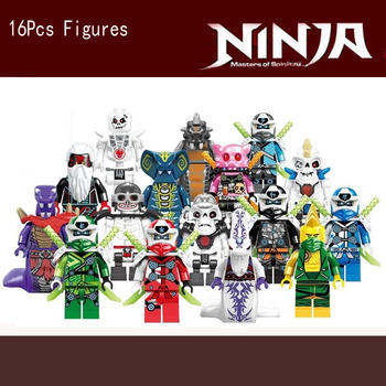 16PCS/LOT Ninjagoe  Lloyd zane Kai Cole Jay Nya mit Masters of Spinjitzu Empire Energy Gamer's MarketBlock KID TOYS 2020 NEW 1