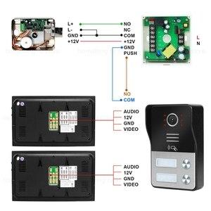 Image 5 - HomeFong Ha Fissato il Video Telefono Del Portello di Sicurezza Domestica Appartamento Sistema di Controllo di Accesso 1 Campanello 2 Monitor Supporto Elettrico blocco Sblocco