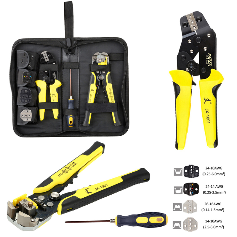 Multitool 4 In 1 Wire Crimpers Engineering Ratcheting Terminal Crimping Pliers wire stripper Tools Set Cable Cutter Hand Tools