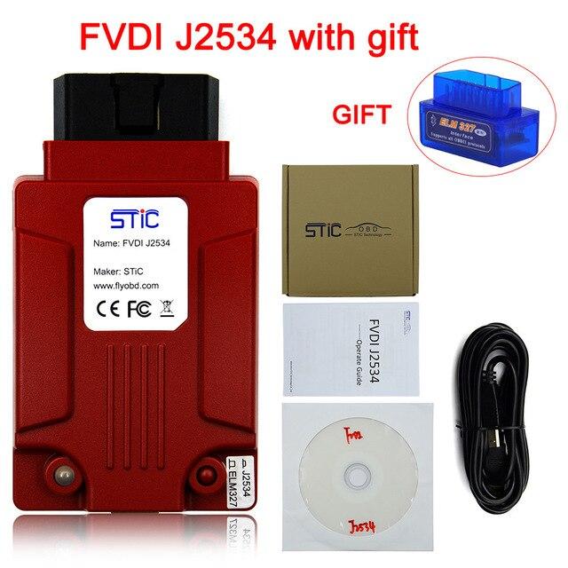FVDI J2534 Módulo de programación en línea Multi idioma Original J2534 FVDI Works ELM327 SAE J2534