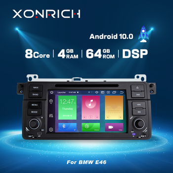 1 Din autoradio Android 10 Car multimedia Player For BMW E46 M3 318/320/325/330/335 Rover 75 1998-2006 GPS Navigation obd2 DVD image