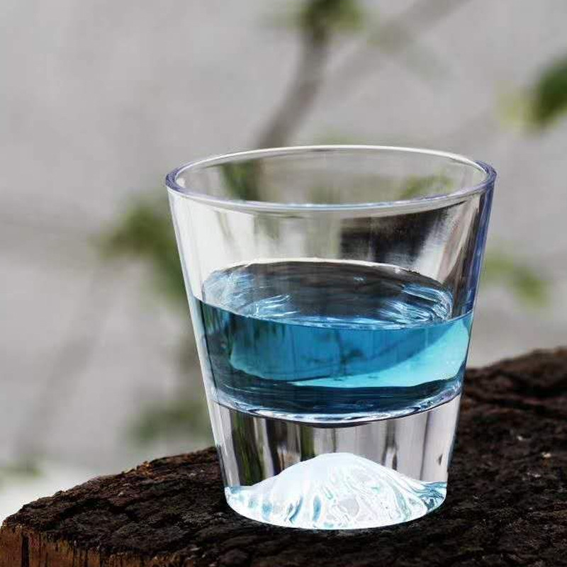 Creative Whiskey Glass Japanese Style Fuji Mountain Iceberg Glass Double Layer Beer Juice Coffee Shot Glasses Transparent Mug