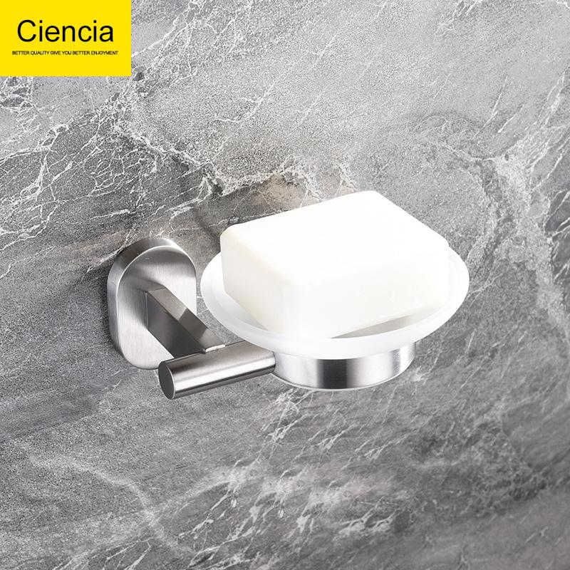 SUS304 Stainless Steel Soap Dish Soap Holder Bathroom Pendant Toilet Soap Dish Storage Shelf Ciencia