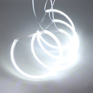 Image 3 - HochiTech لسيارات BMW E36 E38 E39 E46 العارض الترا برايت مصلحة الارصاد الجوية الأبيض LED عيون الملاك 2600LM 12 فولت خاتم على شكل هالة عدة النهار ضوء 131mmx4
