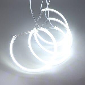 Image 3 - HochiTech per BMW E36 E38 E39 E46 proiettore Ultra luminoso SMD LED white angel occhi 2600LM 12V halo anello kit di luce luce di marcia diurna 131mmx4