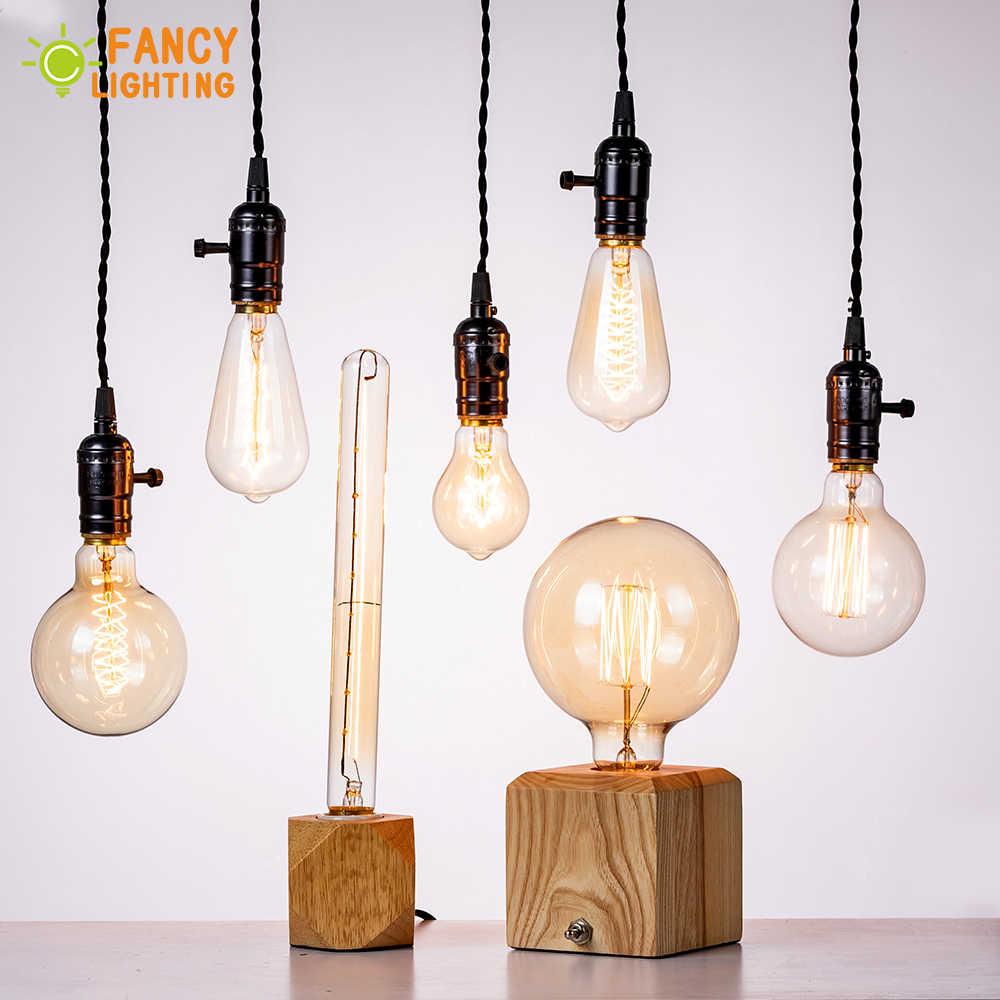 10 pcs/lot vintage lampe E27/E14 rétro ampoule 110 V/220 V edison ampoule pour la maison/salon décor 40/60W ampoule à incandescence