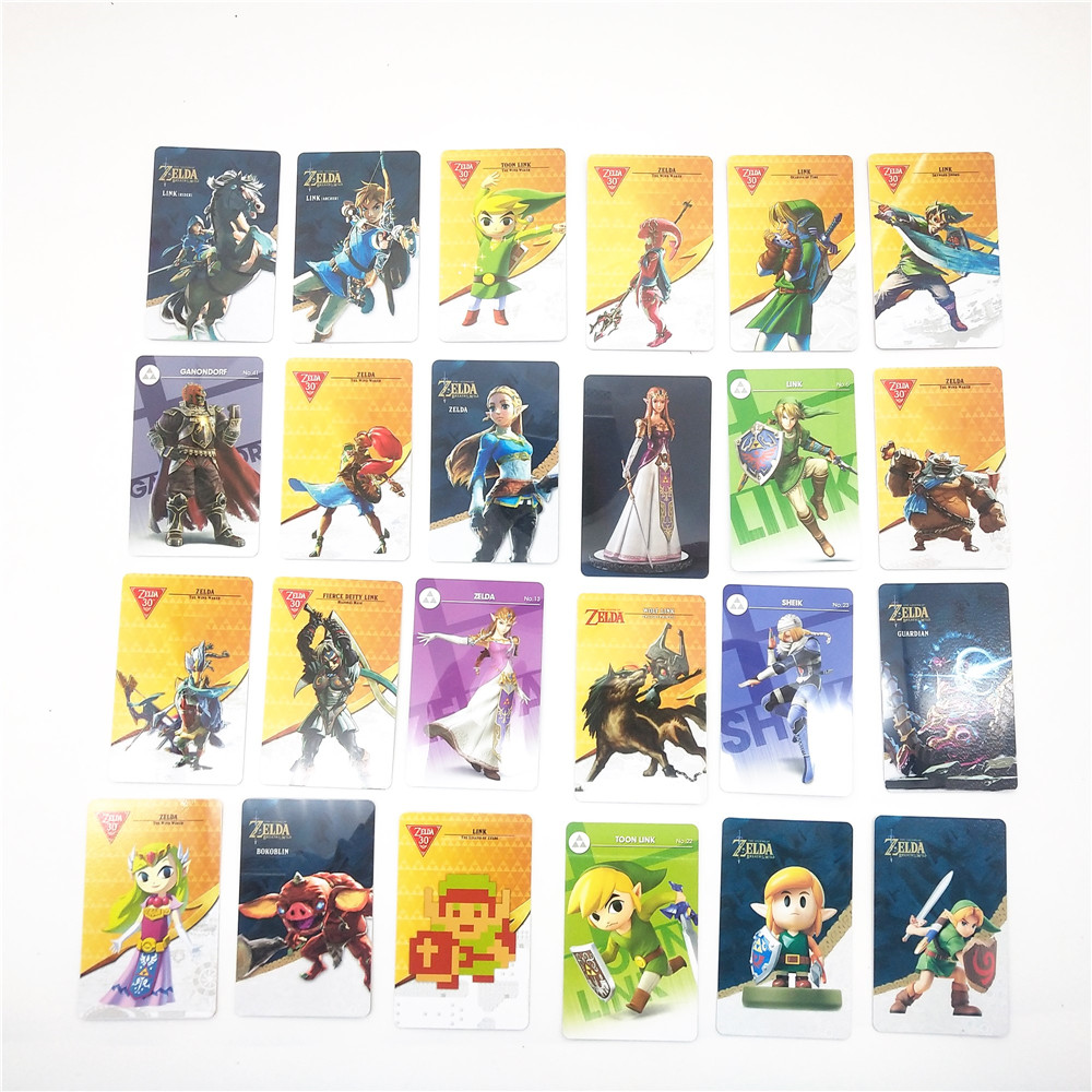 Set Of 24Pcs NFC Game Cards For Nintendo Switch & Wii U The Legend Of Zelda BOTW Ntag 215 Standard Card