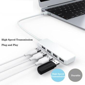 USB Hub 4 Port USB Splitter Hub Adapter Mini USB 2.0 Hi-Speed Adapter dla Macbook Pro PC akcesoria komputerowe USB Dock USB C Hub