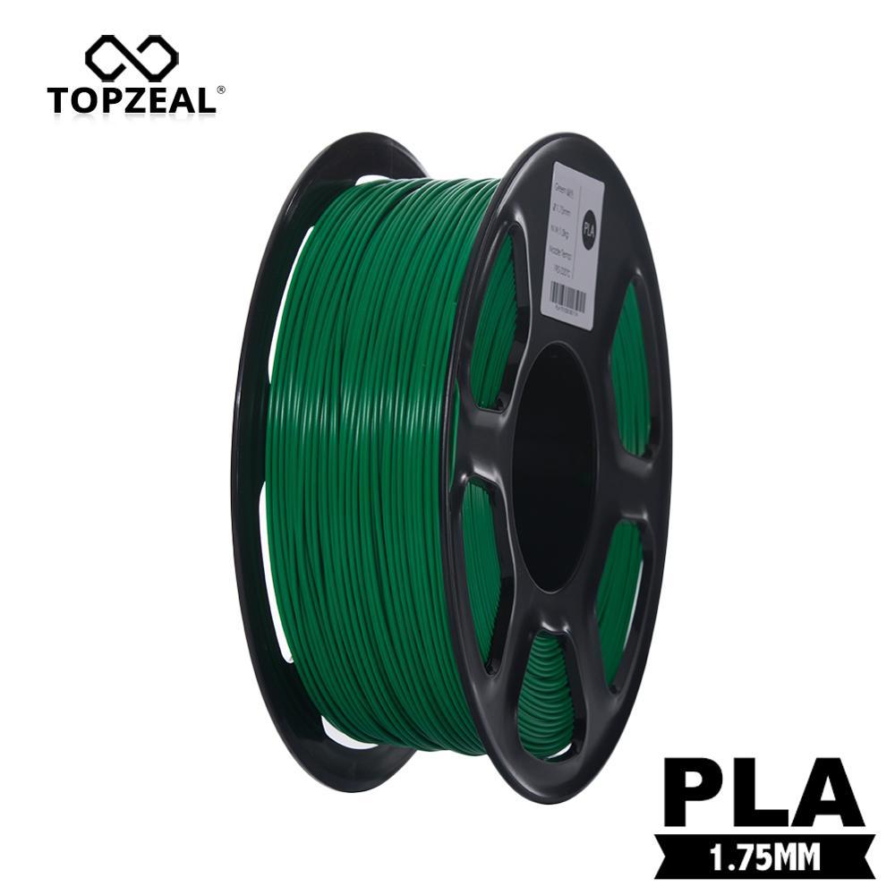 TOPZEAL PLA Green Color 3D Filament Plastic PLA Filament 1KG 1.75mm 3D Printing Materials Plastic for 3D Printer