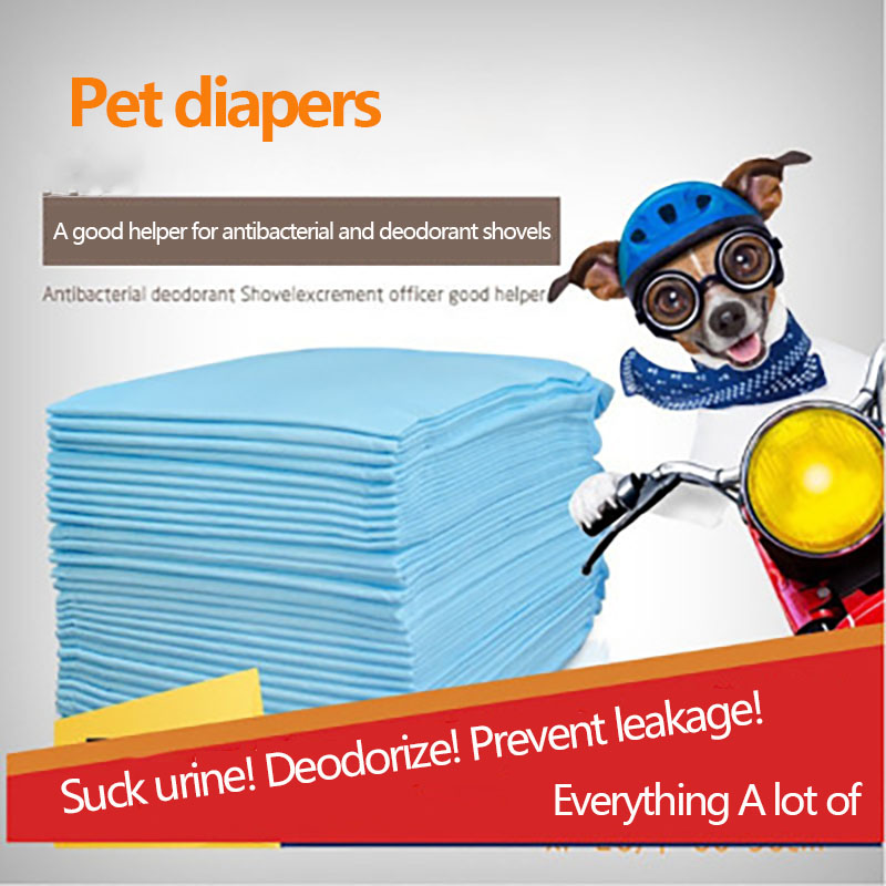 One Piece Of Pet Absorbent Diaper Pad Dog Diaper 1 Wet Pet Diaper Pet Biodegradable Disposable Diaper Pet Cleaning Supplies Dog