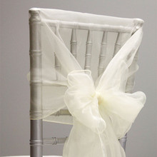 Chair-Caps Bow-Sashes Party-Decoration Organza Wedding Event Hotel for 10pcs Hoods Tulle