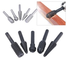 Rotary Rasp Files Hand-Tool Craft Woodworking Grinding-Power 5pcs Bits Burrs Steel 1/4-