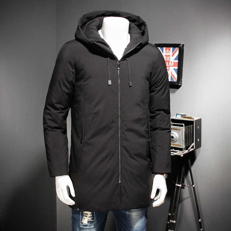 Novo plus tamanho 8xl 7xl 6xl grosso inverno quente lazer algodão-acolchoado para baixo jaqueta masculina longo solto capuzes casaco parkas tamanho grande