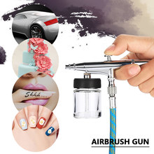 Complete Precision Airbrush Kit 0.2/0.5mm Needle Gravity Feed Air Brush Spray for Tattoo Body Paint Nail Art Air Brush Gun Set(China)