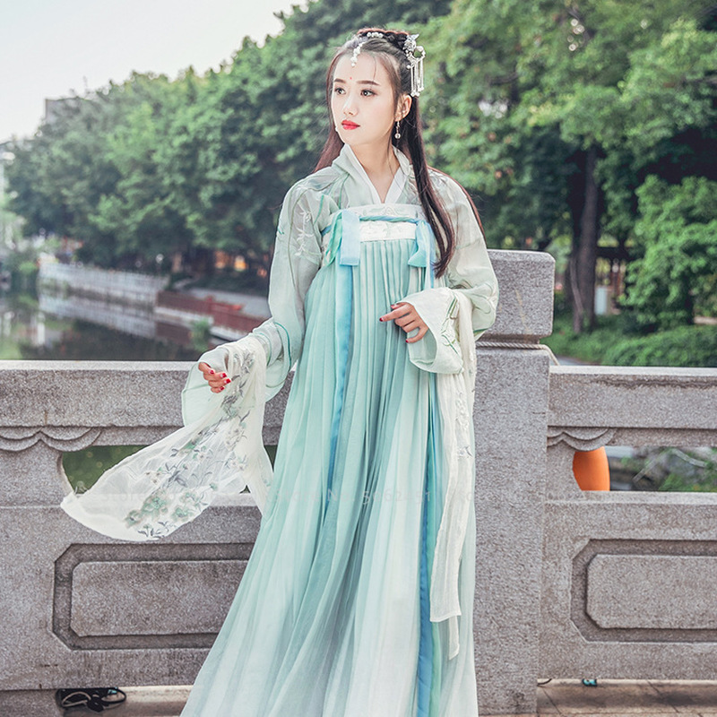 Ancient Chinese Traditional Hanfu Fairy Cosplay Costume Tang Dynasty Suit Women Princess Party Dress Folk Dance Festival Outfits