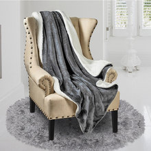 Winter Cashmere Smooth Velvet Warm Blanket Sofa Cover home Wool Blanket Bedspread Sofa Blanket Navy Blue/Camel Color/Gray(China)