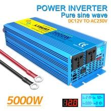 Zuivere Sinus Omvormer Dc 12V Naar Ac 220V 2000W 3000W 4000W Volt Led Display converter Transformator Auto Inversor Solar Power