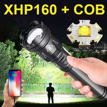 Most Powerful XHP160 Led Flashlight 18650 rechargeable usb Torch XHP90 tactical flash light Hunting Lantern waterproof work Lamp