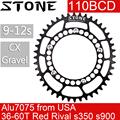 Камень кольцо 110 BCD Овальный гравий 36t 42 48 50 52 54 56 58 60T дорожный велосипед зубная пластина для 110BCD CX для sram rival force red