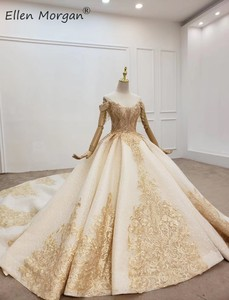 Image 3 - Elegant Off ไหล่ Gowns ชุดแต่งงานลูกไม้ 2020 Real รูปภาพ Beaded Fringe Elegant ชุดเจ้าสาวสำหรับผู้หญิง