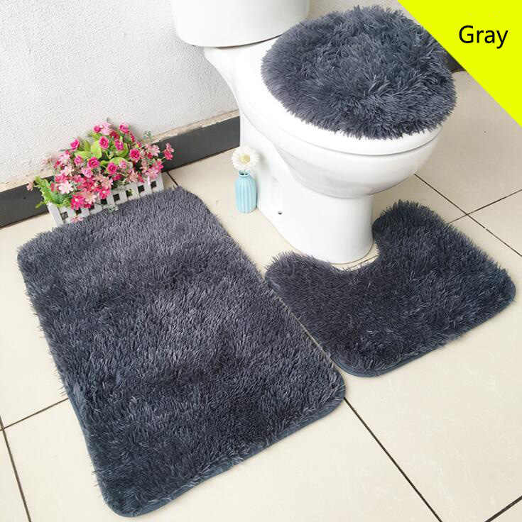 Fyjafon 3 Piece Set Toilet Lid Covers For Bathroom Bath Mat Non Slip Rug Plush Bathroom Mat Toilet Seat Covers Aliexpress