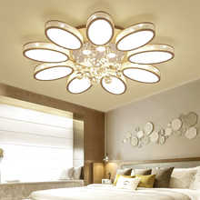 Modern Crystal Chandelier Lighting With Remote Control Dimmable AC 110-240V LED Lamps For Living Room Bedroom Deco Indoor Light