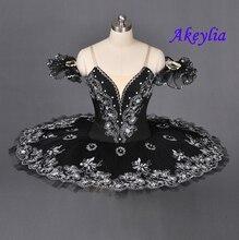 Black Flower Swan Ballerina Clssical Tutu Pancake Sleeping Beauty Ballet Rose red La Esmeralda pancake tutu Green kids