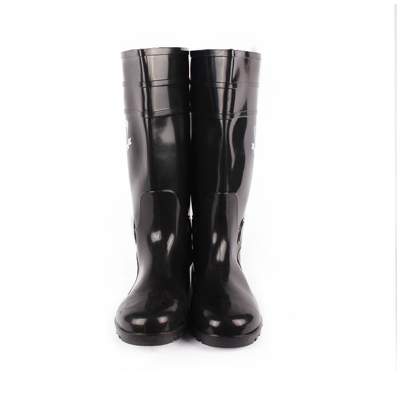 Manufacturers Wholesale [Yu Feng] Rubber-Plastic Steel Head Rain Boots Anti-slip Anti-Acid Boots  Rubber Boots Labor Safety Sma