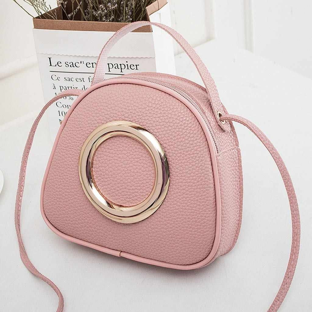 Round metal decoration bag Shoulders Small Handbag Letter Purse Mobile Phone Bag luxury handbags women bags bolsa feminina