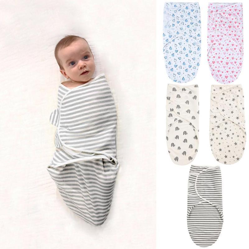 Baby Sleeping Bag Swaddle Blanket Newborn Cocoon Swaddle Wrap Envelope Cotton 0-3 Months Baby Blanket Swaddling Wrap Sleepsack