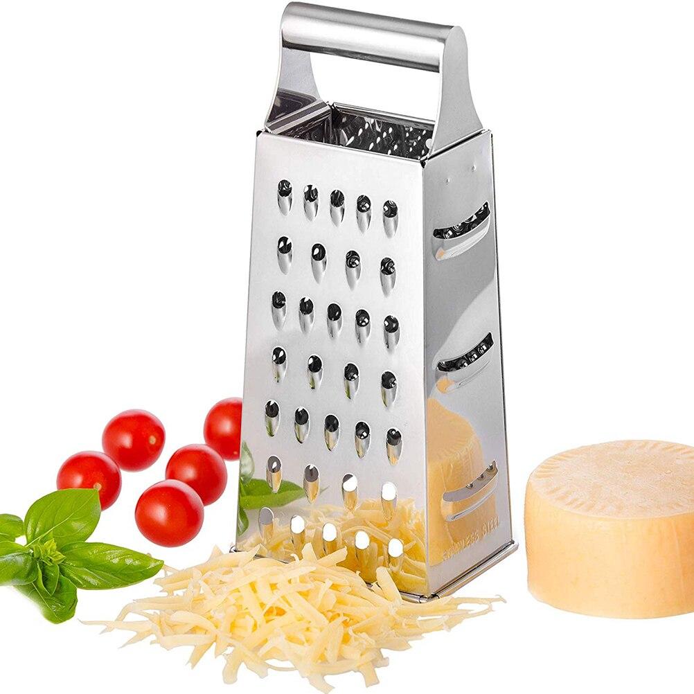 4-сторонние лезвия из нержавеющей стали, бытовая коробка, терка, контейнер, многоцелевой резак для овощей, кухонные инструменты, ручной слай...