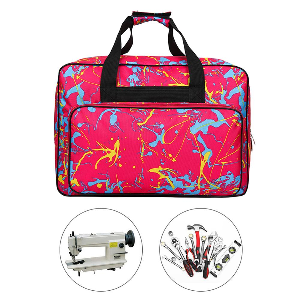 Unisex Large Capacity Sewing Machine Bag Travel Portable Storage Bag Sewing Machine Bags Multifunctional Sewing Tools Hand Bags