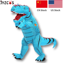 JYZCOS 성인 키즈 풍선 공룡 의상 t 렉스 의상 할로윈 파티 의상 여성 남성 쥬라기 세계 코스프레 의상