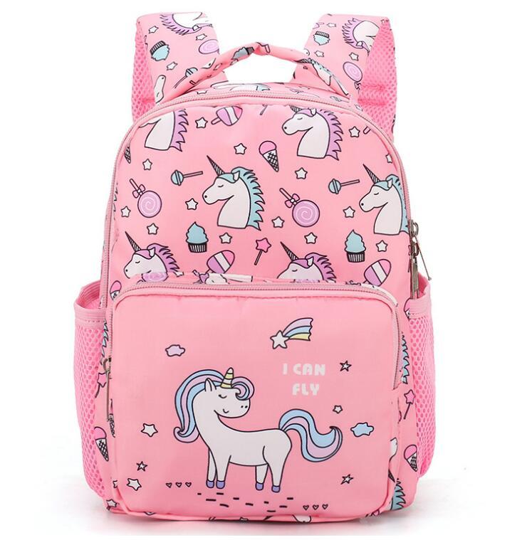 Unisex 3D Cute Unicorn Prints Backpack Unicorn Children School Bags Boys And Girls Cartoon Shaped Schoolbag Baby Kids Bag