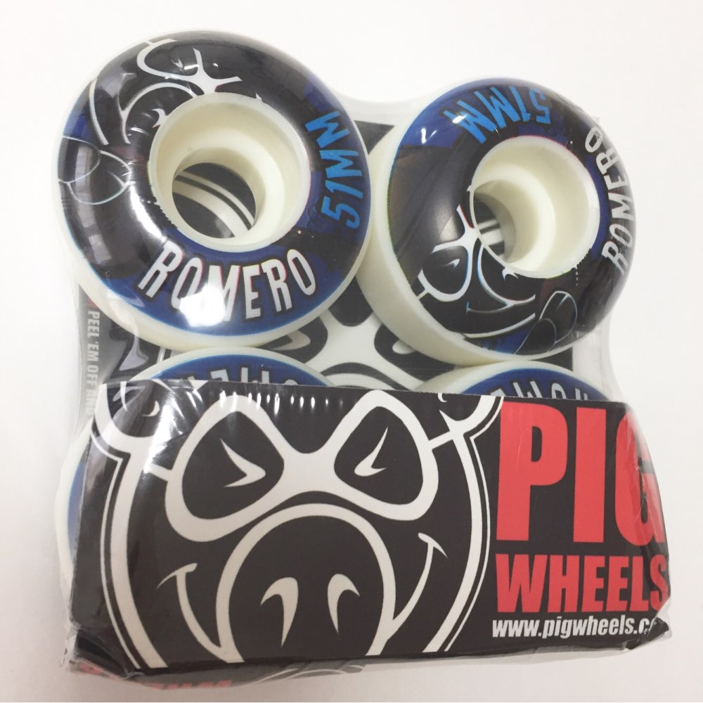 Купить с кэшбэком USA BRAND GIRL PIG 4pcs/Set Pro 50&52&53&54&55mm USA color changed Skateboard Wheels for Ruedas Patines Plastic Rodas Skate