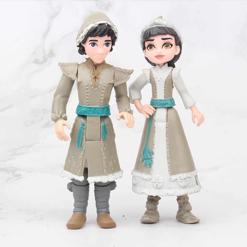 חם 1 סט דיסני קפוא 2 מלכת שלג אלזה אנה PVC פעולה איור אולף Kristoff סוון אנימה בובות צלמיות ילדים צעצוע ילדי מתנה