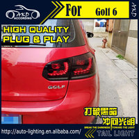 AKD Car Styling Tail Lamp for VW Golf 6 Tail Lights Golf6 R20 LED Tail Light Dynamic Signal LED DRL Stop Rear Lamp Accessories