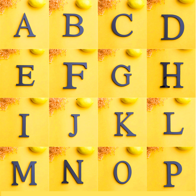 Acrylic Mirror 26 Capitalized English Decorative Scrabble Letters Stickers Alphabet Wedding Decoration Room Door Wall Stickers 5