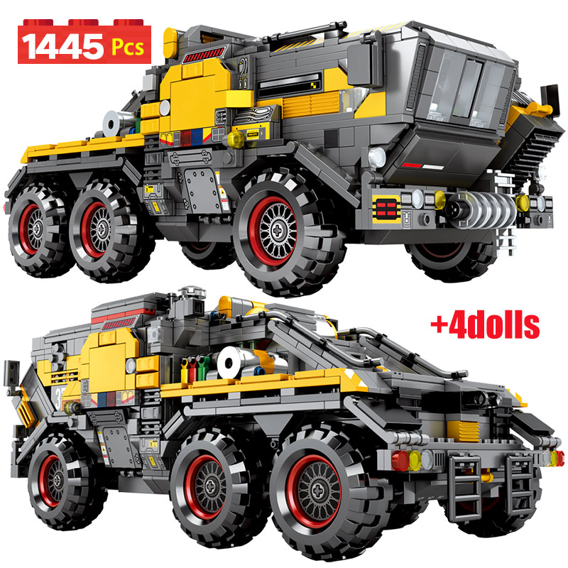 SEMBO City Military Tank Carrier Car Building Blocks Technic Wandering Earth Cargo Van Transport Truck Bricks Toys For Boy