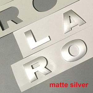 Image 3 - For LAND RANGE ROVER SPORT VELAR SV Edition Glossy Black Matte Silver Top ABS Emblem Car Styling Hood Trunk Letters Logo Sticker