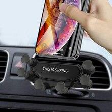 Acessórios para carro Suporte universal para telefone automotivo Gravidade Preto Suporte para telefone automotivo Air Vent Mount Suporte para smartphone