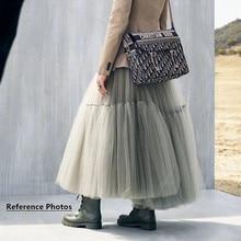 15 цветов Макси Длинная Роскошная мягкая юбка из фатина черная плиссированная юбка-пачка Женская винтажная Нижняя юбка lange rok jupes falda