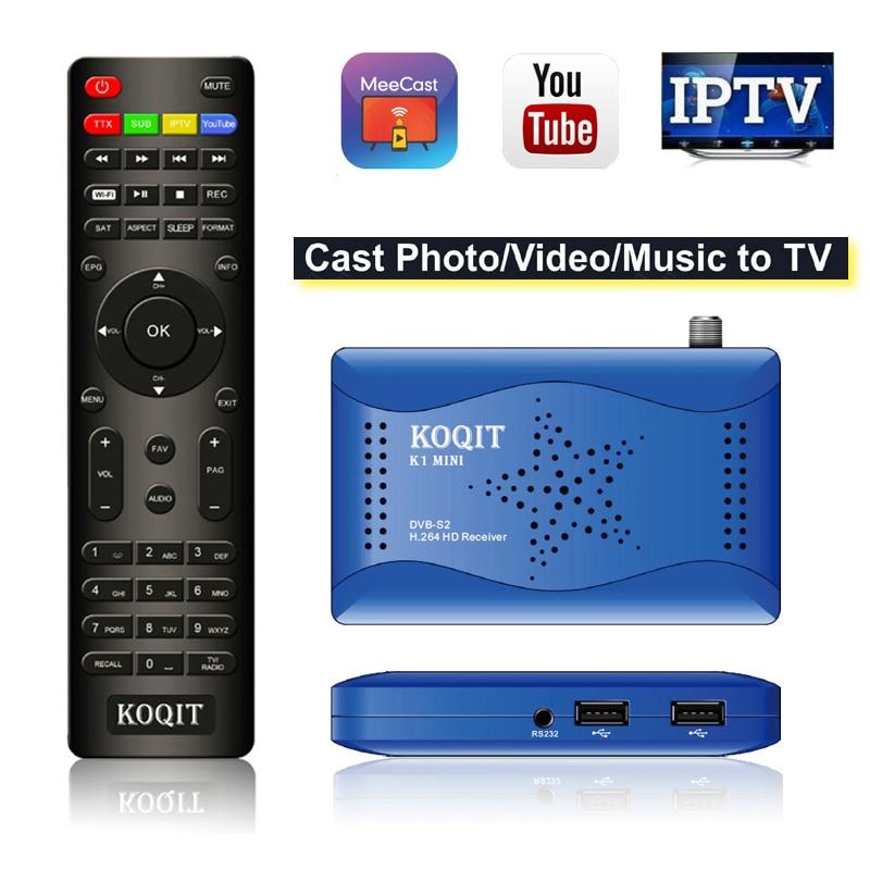 Koqit DVB-S2 T2MI Tuner Receptor DVB S2 Satellite Receiver internet Finder Biss Vu IPTV CS Decoder Mirror Cast TV Wifi Youtube