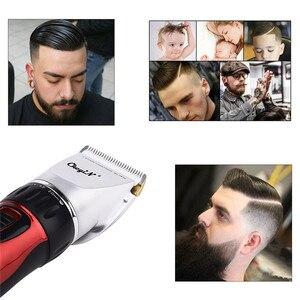 Image 4 - מקצועי שיער גוזם שיער קליפר נטענת קרמיקה להב שיער חיתוך חשמלי מכונת גילוח לגברים זקן עם 4 גבול קומבס